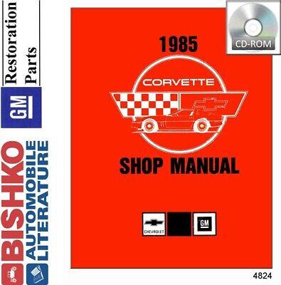 1985 Chevrolet Corvette Shop Service Repair Manual CD Engine Drivetrain Wiring
