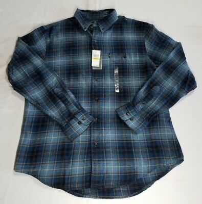 G.h. Bass & Co. Fireside Plaid Flannel Shirt  Navy Bluewing Teal Mens 2XL (Teal Plaid Flannel)