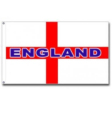 5FT X 3FT LARGE ENGLAND ST GEORGE CROSS NATIONAL FLAG FOOTBALL SPORTS PUB CAR