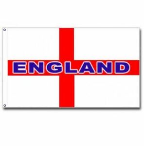 5FT X 3FT LARGE ENGLAND ST GEORGE CROSS NATIONAL FLAG FOOTBALL SPORTS PUB CAR