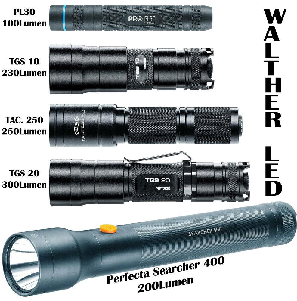 Walther LED Profi Taschenlampen Geschenkideen mit und ohne Batterien