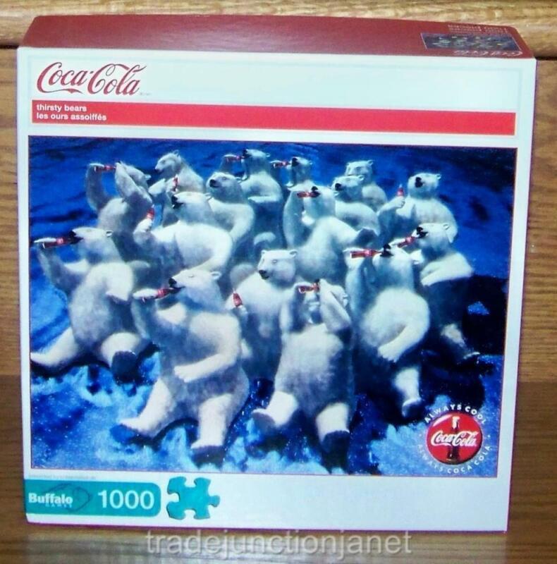 "NIB 2011 USA COCA-COLA ""THIRSTY BEARS"" 1000 pc BUFFALO JIGSAW PUZZLE w/POSTER"