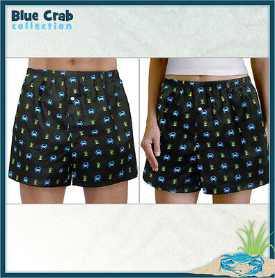 Her Boxer Shorts - Blue Crab BOXERS Boxer Shorts Sm MADE IN USA Unique GREAT GIFTS FOR HIM OR HER