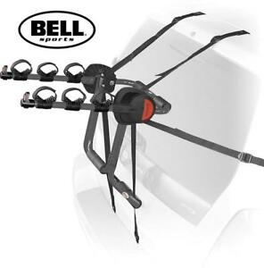 OB BELL SPORTS 3 BIKE TRUNK RACK 7016046 187684370 GRAY OUTDOOR SPORTS BICYCLE TRANSPORT OPEN BOX