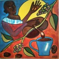 Art Tile with a Coffee Theme