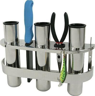 Boat Fishing Lure Rod Rack Vertical Holder Organiser Stainless Triple & Double