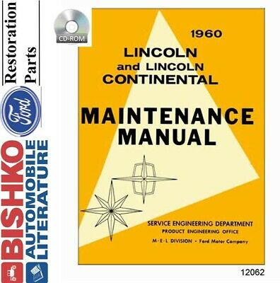 1960 Lincoln Shop Service Repair Manual CD Engine Drivetrain Electrical OEM