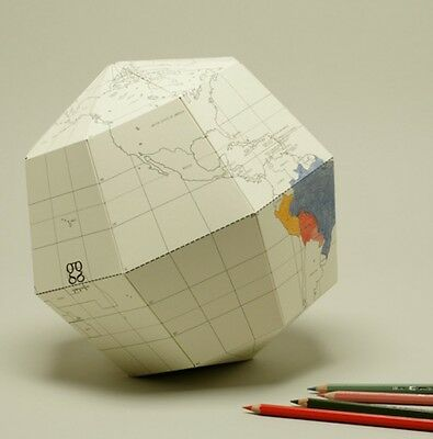 Geografia GLOBE BLANK SECTIONAL  Large Size earth
