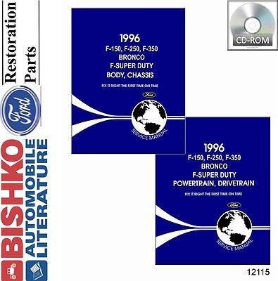 1996 Ford Truck Bronco Econoline Shop Service Repair Manual CD