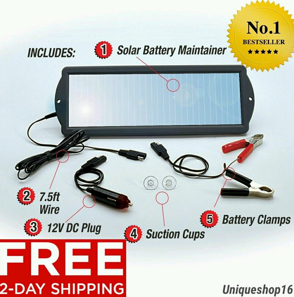 Sunforce 50012 1.8-Watt Solar Battery Maintainer