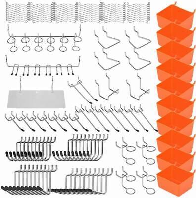 228 Pegboard Hook Assortment Variety Set Garage Storage Shelf Hanger Storage Box