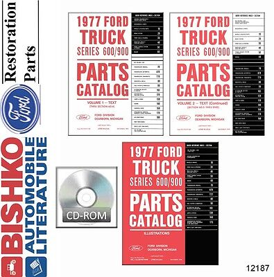1977 Ford Medium Duty Truck Parts Numbers Book List CD Interchange Images
