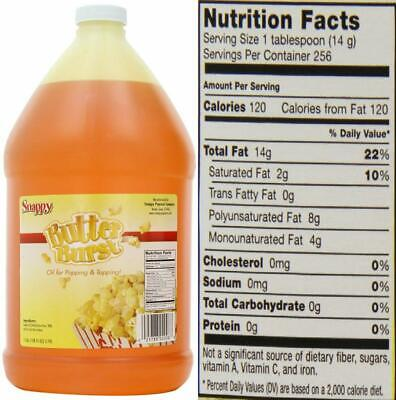 Snappy Popcorn Butter Burst Oil 1 Gallon 128 Fl Oz