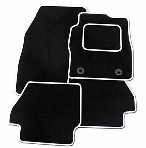 citroen ds3 2010 onwards tailored car floor mats black with white trim ebay. Black Bedroom Furniture Sets. Home Design Ideas