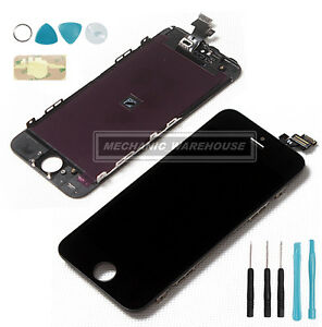 Black-LCD-Display-amp-Digitizer-Assembly-TOUCH-SCREEN-strumenti-per-Apple-iPhone-5-5G