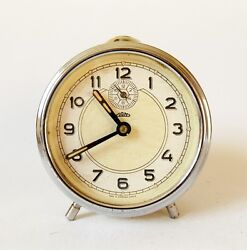 Vintage 1960 Alarm clock PRIM Czechoslovakia Retro Old Desk table watch decor