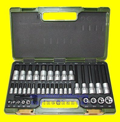 PROXXON 23290 Bitsatz Nusssatz HX INHEX + TX Torx 6,3mm 1/4