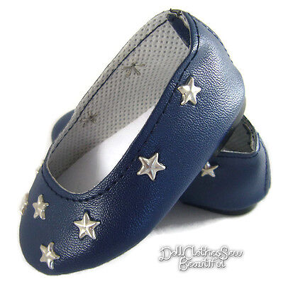 Navy Star Ballet Flats Shoes for 18