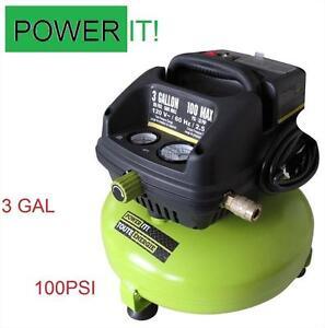 NEW POWER IT AIR COMPRESSOR 100PSI 3 GALLON OILLESS - COMPRESSORS POWER EQUIPMENT TOOLS 109800093