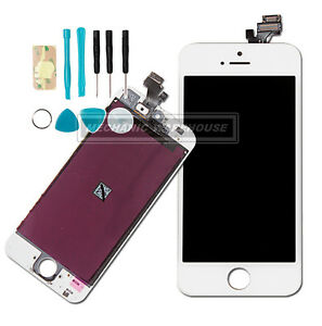 BIANCO-RETINA-LCD-Touch-Screen-Digitizer-Schermo-Lente-Per-Apple-iPhone-5-5G