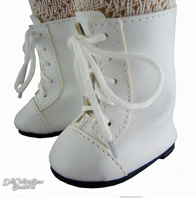Victorian Era White 1800 Boots Shoes for 18