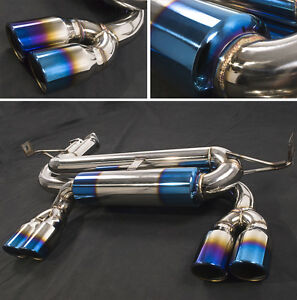 bmw e46 3 2 m3 stainless steel exhaust back box with twin titanium coated tips ebay. Black Bedroom Furniture Sets. Home Design Ideas