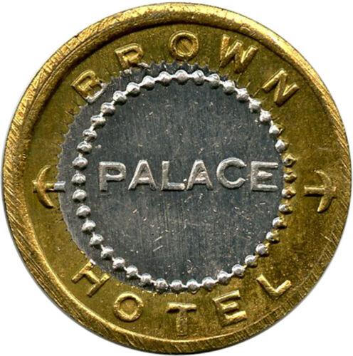 Brown Palace Hotel Coffeyville, Kansas & Mobridge, South Dakota 5¢ Trade Token