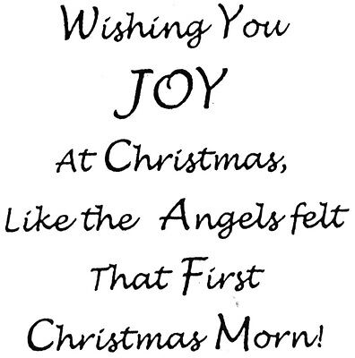 Unmounted Rubber Stamp, Christian, Biblical, Christmas, Angels, Wishing You Joy