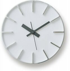 Lemnos Edge Clock White AZ-0116 WH Wall Clock Japan 4515030007845