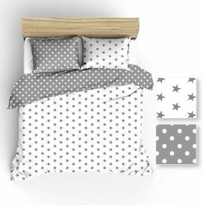 Baumwolle Bettwäsche 180x200 Graue Weiße Erbsen