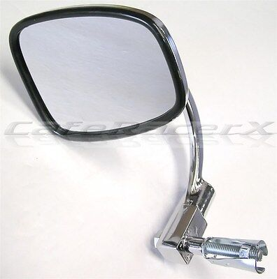 (Chrome Bar End Motorcycle Mirror Folding Adjustable 7/8 Caferacer Classic Style )