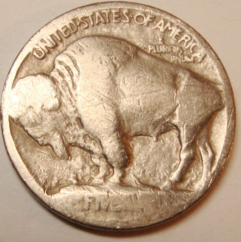 1913 Buffalo Nickel Raised Mound Type 1 Free Shipping