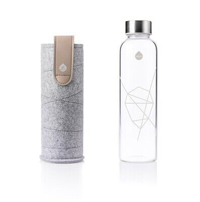 EQUA Trinkflasche Glas Sandy Sky Mismatch 750ml Sport Wasserflasche +