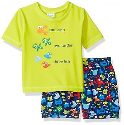 Kiko & Max Toddler Boys Green Two-Piece Rashguard Swim Set Size 2T 3T 4T