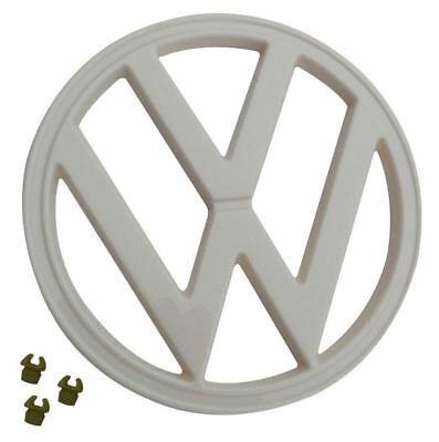 """FRONT EMBLEM BLACK 211-853-601EB 72-79 VW TYPE 2 BUS WITH CLIPS 7/"""" 182MM"""