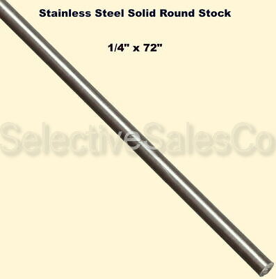 Stainless Steel Solid Round Stock 14 X 6 Ft Length 303 Unpolished Rod 72 Long