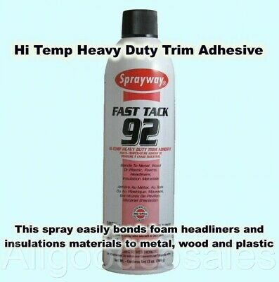 Hi Temp Spray Adhesive 20oz. Can Headliner Glue Heavy Duty Fast Tack 92 13oz Net