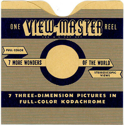 Reel Sleeves for ViewMaster Hand Lettered Reels - Pack of 25 - NEW