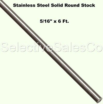 Stainless Steel Solid Round Stock 516 X 6 Ft Length 303 Unpolished 72 Rod