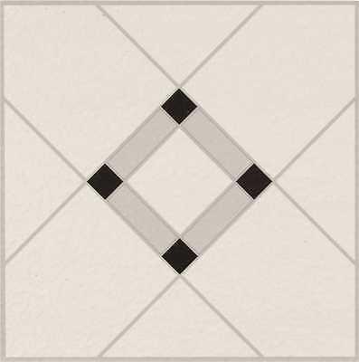 Lattice Lane Units Residential No-Wax Self-Stick Vinyl Floor Tile, Black/white