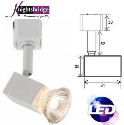 (GU10 LED Single Circuit Cool White Compatible 240V Track Lighting Head Spotlight)