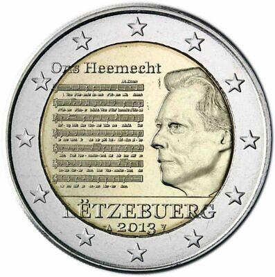 2 Euro Luxemburg 2013  Nationalhymne des Großherzogtums Luxemburg unc