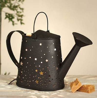 Primitive/Farmhouse/Cottage/Country Watering Can Candle Wax Warmer -Rustic Brown