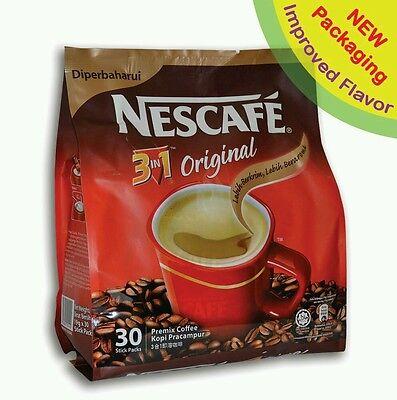 NESCAFE 3 IN 1 ORIGINAL / REGULAR INSTANT COFFEE 30 sticks (SALE)