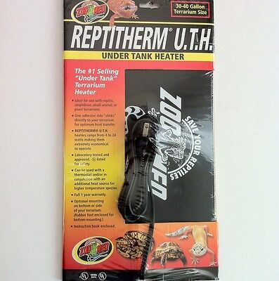 Zoo Med Repti Therm Under Tank Heater RH-5 Reptile Heat Pad Mat 30-40 gallon
