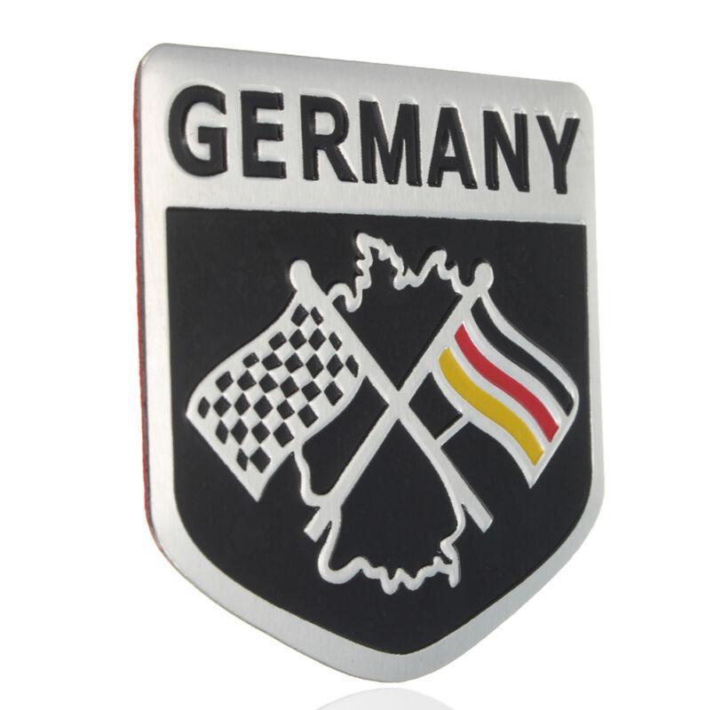 1x New German Flag Emblem Grille Badge Metal Racing Car
