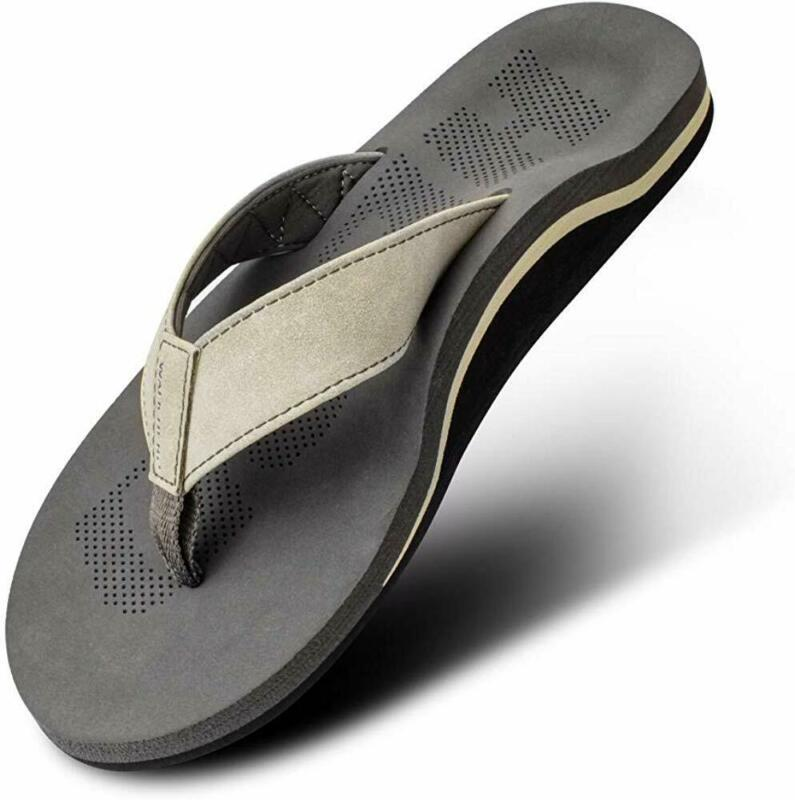 Men Sandals Flip Flop with Orthotic For Flat Feet Plantar Fa