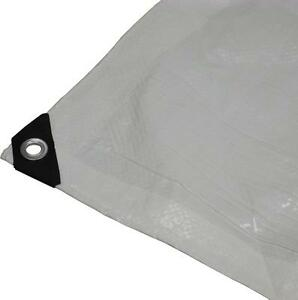 HEAVY DUTY WHITE POLY TARP IDEAL FOR BUILDING A BACKYARD ICE RINK FOR YOUR WAYNE GRETZKY