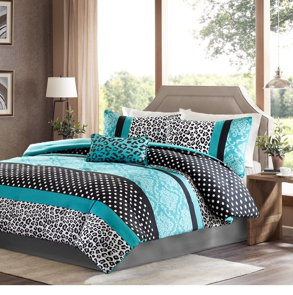 Damask bedding twin - Twin Comforter Set Comforter Sets For Teen Girls Full Queen Twin Bedding Kid Aqua Teal Black Damask