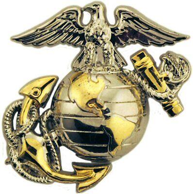U.S MARINE CORPS EGA LAPEL HAT PIN USMC EAGLE GLOBE & ANCHOR LEFT EMBLEM